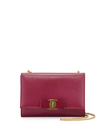 Miss Vara Bow Clip Crossbody Bag, Vin (Burgundy)