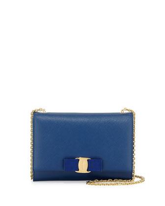 Miss Vara Bow Clip Crossbody Bag, Sapphire