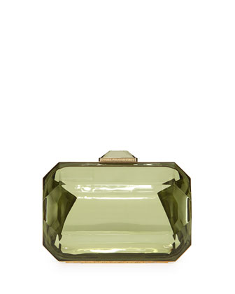 Rhinestone-Shape Clutch Bag, Green