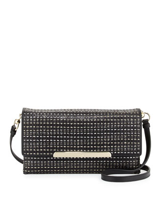 Rougissime Optic Studs Clutch Bag, Black