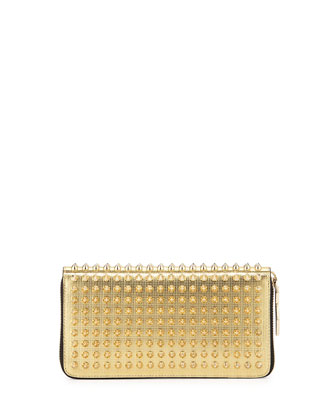 Panettone Spike Stud Continental Wallet, Gold