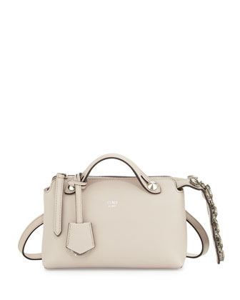 By The Way Mini Crystal-Croc-Tail Satchel Bag, White