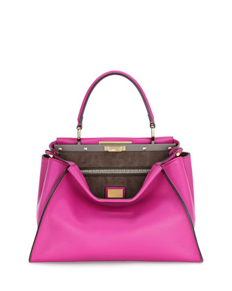 Peekaboo Medium Satchel Bag, Magenta