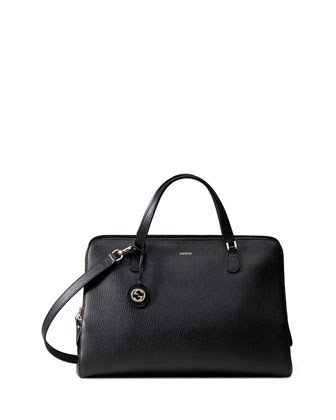 Lady Dollar Large Top Handle Bag, Black