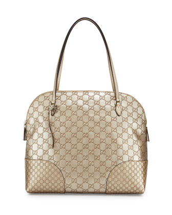 Bree Guccissima Medium Dome Bag, Beige