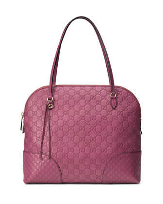 Bree Guccissima Leather Top Handle Bag, Pink