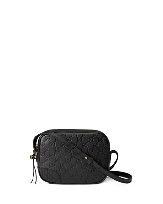Bree Guccissima Leather Disco Bag, Black