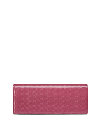 Broadway Microguccissima Patent Leather Evening Clutch Bag, Pink