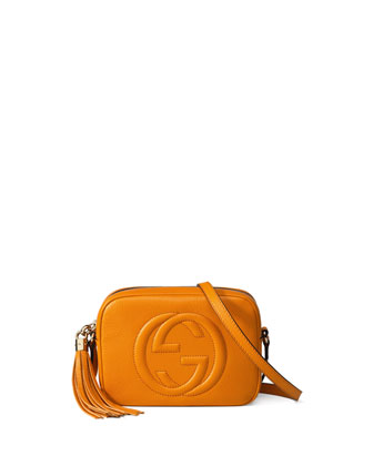 Soho Leather Disco Bag, Yellow