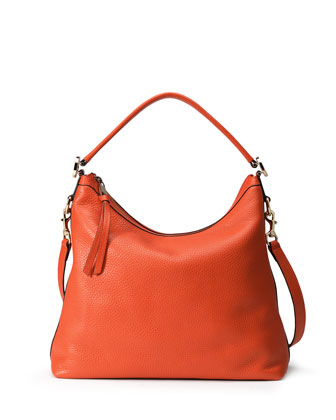 Miss GG Small Hobo Bag, Dark Orange