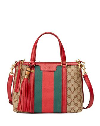 Rania Original GG Canvas Small Top Handle Bag, Multi