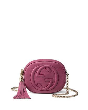 Soho Leather Mini Chain Bag, Pink