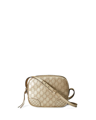 Bree Guccissima Leather Disco Bag, Golden Beige