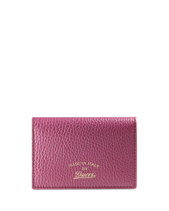 Swing Leather ID Case, Pink