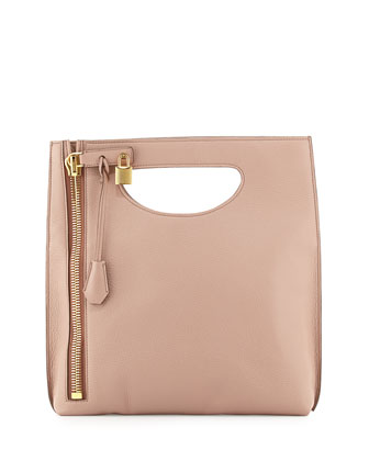 Alix Fold-Over Crossbody Bag, Blush Nude