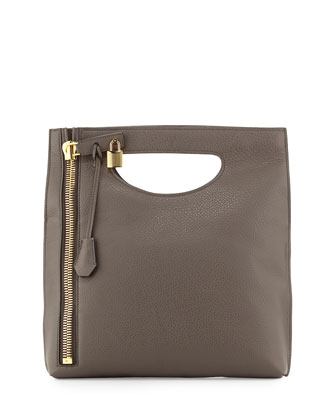 Alix Fold-Over Crossbody Bag, Dark Gray