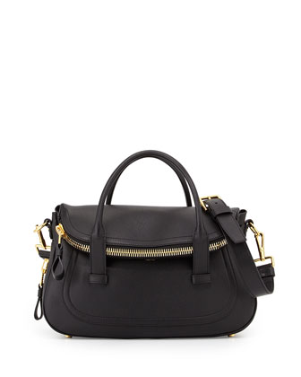 Jennifer Medium Top-Handle Bag, Black