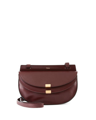 Georgia Mini Leather Crossbody Bag, Bordeaux
