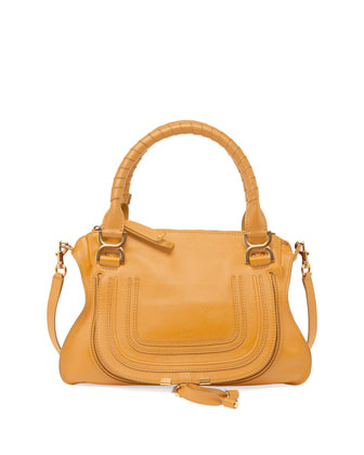 Marcie Medium Satchel Bag, Curry Yellow