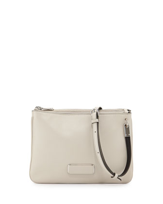 Ligero Double Percy Crossbody Bag, Tumbleweed Beige