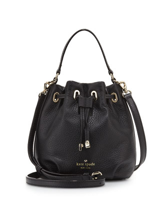 cobble hill wyatt mini bucket bag, black