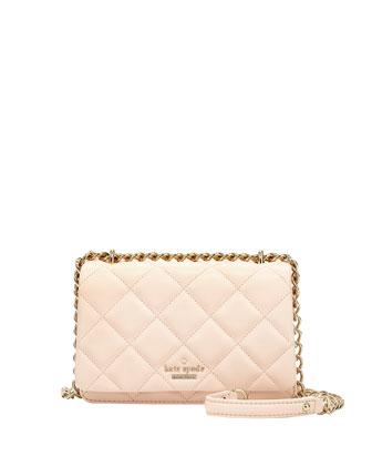 emerson place mini vivenna crossbody bag, soft rosette