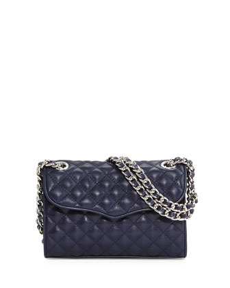 Mini-Affair Quilted Leather Bag, Midnight