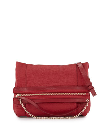 Zoey Leather Crossbody Bag, Cherry Bomb