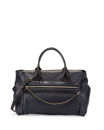 Zoey Handbag w/ Crossbody Strap, Midnight