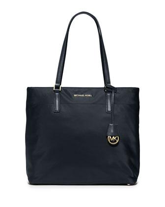 Morgan Large Nylon Tote Bag, Navy