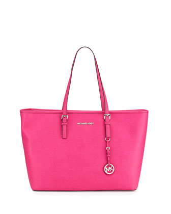 Jet Set Travel Medium Tote Bag, Raspberry