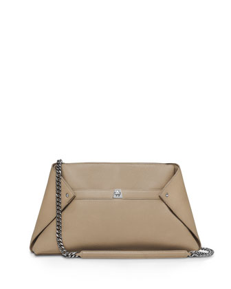 Ai Medium Leather Clutch Bag, Cordage