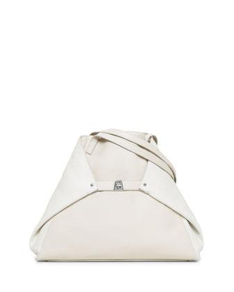 Ai Medium Cervo Tote Bag, Ecru/White