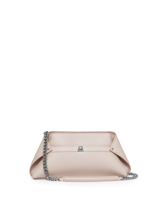 Ai Small Cervo Leather Pochette, Pale Rose