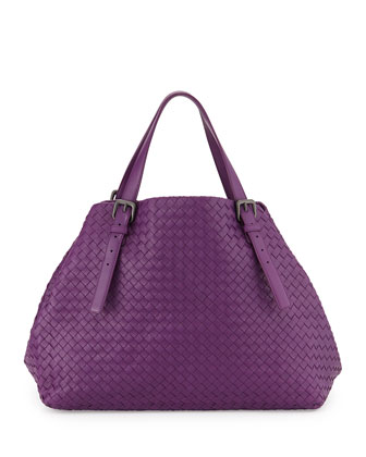 Woven Large A-Shape Tote Bag, Mona
