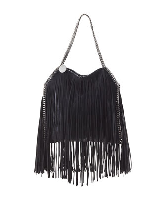 Baby Bella Fringe Tote Bag, Black