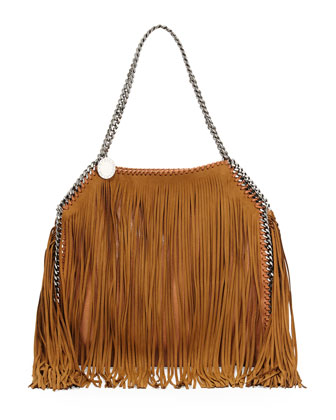 Baby Bella Fringe Tote Bag, Tan
