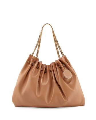 Noma Soft Hobo Bag, Nude