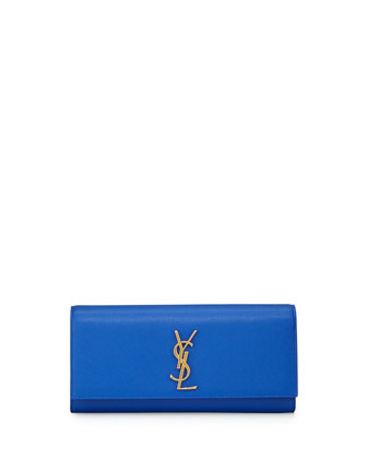 Monogramme Calfskin Clutch Bag, Blue