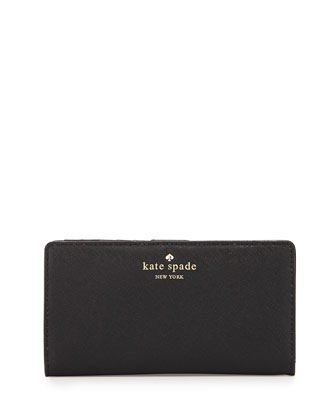 cedar street stacy wallet, black