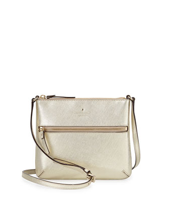 cedar street tenley crossbody bag, gold