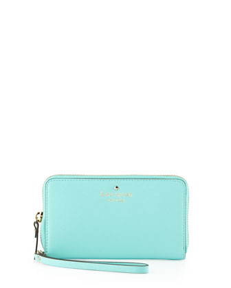 cedar street jodie zip wristlet wallet, fresh air