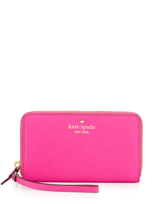 cedar street jodie wallet, medium pink