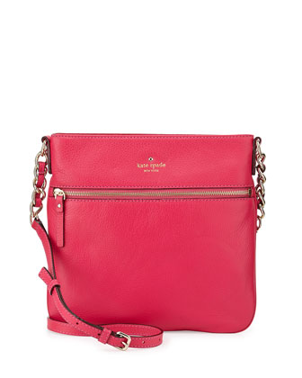 cobble hill ellen crossbody bag, deep pink
