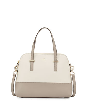 cedar street maise satchel bag, pebble/warm putty