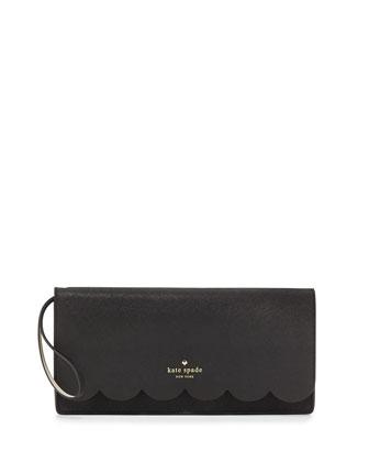 lily avenue kiki wristlet clutch bag, black