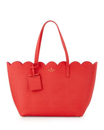 lily avenue carrigan tote bag, geranium