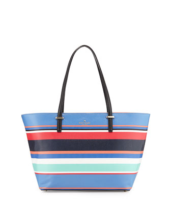 cedar street harmony striped tote bag