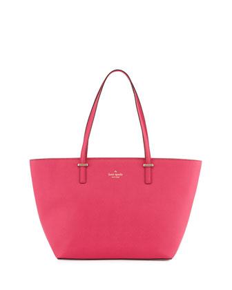 cedar street small harmony tote bag, sweetheart pink