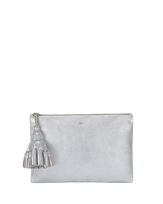 Georgiana Clutch Bag, Silver